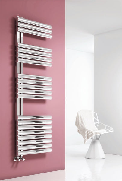 Reina Scalo Brushed or Polished Stainless Steel Designer Radiator |Towel Radiators