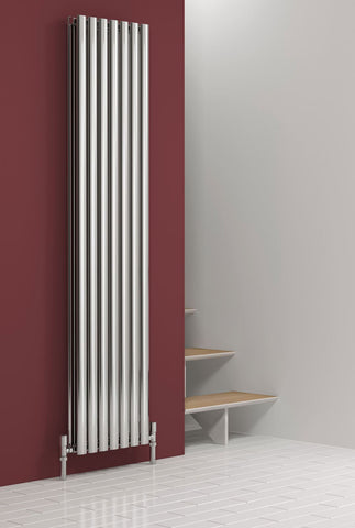 Reina Nerox Polished Stainless Steel Designer Radiators | Vertical Radiator