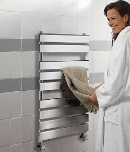 Hudson Reed Piazza Chrome Designer Radiator |Flat Towel Rail