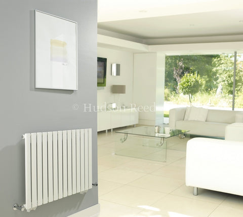 Hudson Reed Revive Wide White Designer Radiator | Horizontal Radiators | New