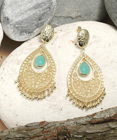 Filigree With Amazonite Earrings