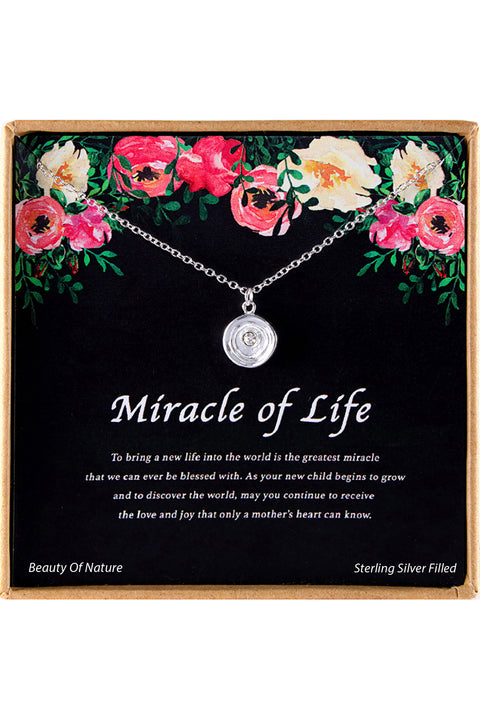 Sterling Silver Miracle Of Life Charm Necklace