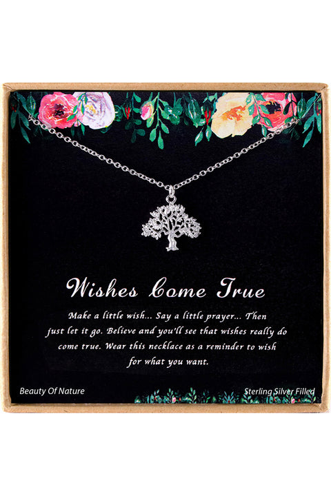 Sterling Silver Wishes Come True Charm Necklace