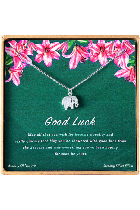 Sterling Silver Good Luck Charm Necklace
