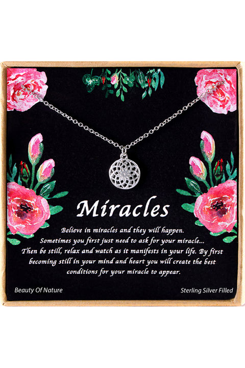 Sterling Silver Miracles Charm Necklace