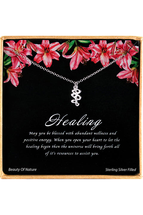 Sterling Silver Healing Charm Necklace