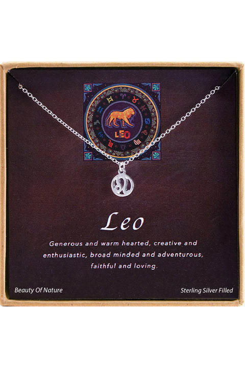 Sterling Silver Leo Charm Necklace