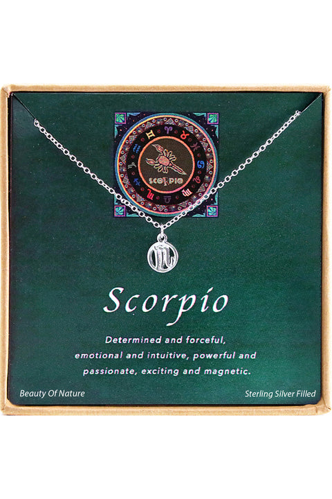 Sterling Silver Scorpio Charm Necklace