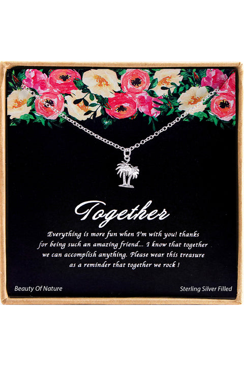 Sterling Silver Together Charm Necklace