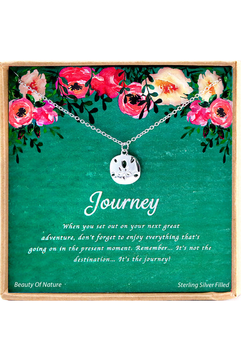 Sterling Silver Journey Charm Necklace