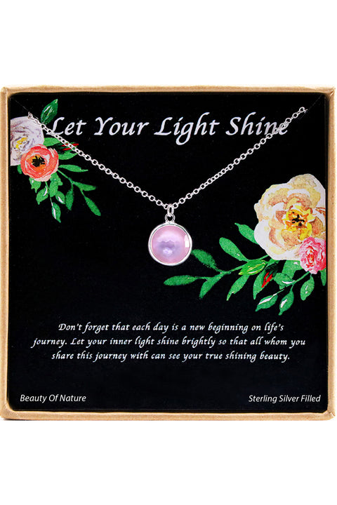 Sterling Silver Let Your Light Shine Charm Necklace