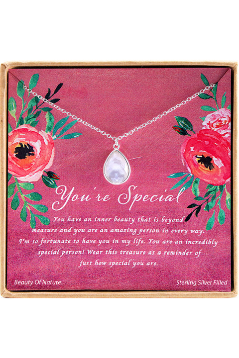 Sterling Silver You're Special Charm Necklace