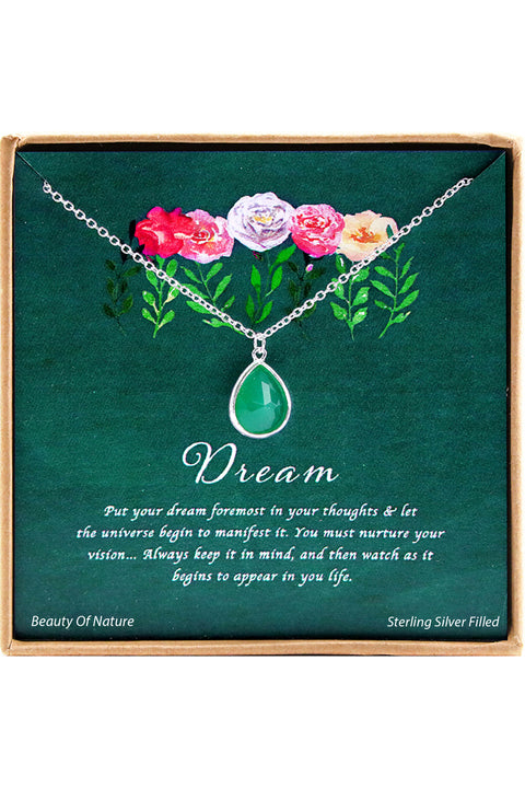Sterling Silver Dream Charm Necklace