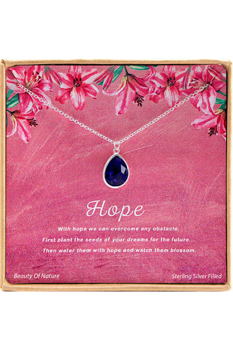 Sterling Silver Hope Charm Necklace