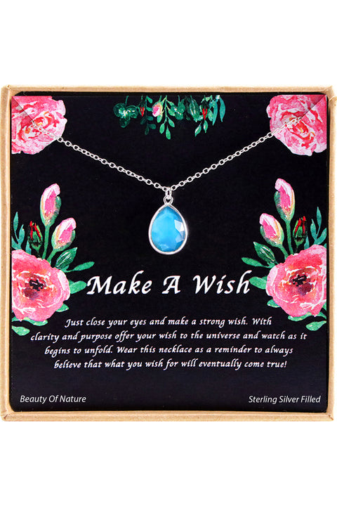 Sterling Silver Make A Wish Charm Necklace
