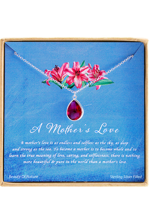 Sterling Silver A Mother's Love Charm Necklace