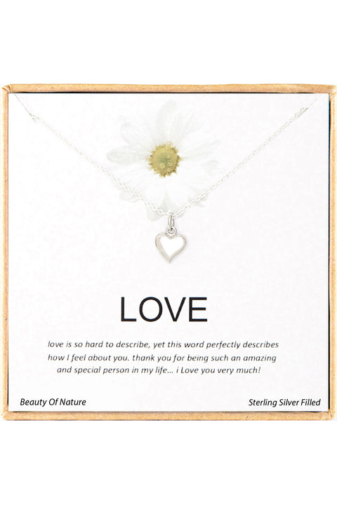 Sterling Silver Boxed 'Love' Inspiration Necklace