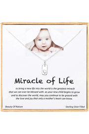 Sterling Silver Boxed 'Miracle Of Life' Inspiration Necklace