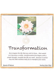 Sterling Silver Boxed 'Transformation' Inspiration Necklace