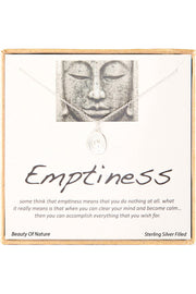 Sterling Silver Boxed 'Emptiness' Inspiration Necklace