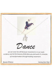 Sterling Silver Boxed 'Dance' Inspiration Necklace