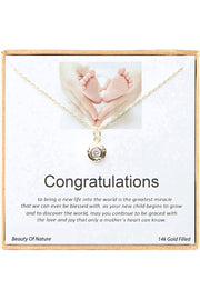 14k Gold Plated Sterling Silver Boxed 'Congratulations' Inspiration Necklace