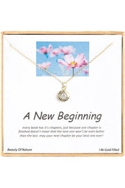 14k Gold Plated Sterling Silver Boxed 'A New Beginning' Inspiration Necklace