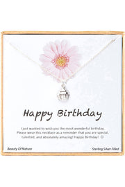 Sterling Silver Boxed 'Happy Birthday' Inspiration Necklace