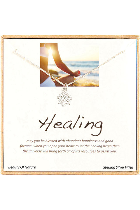 Sterling Silver Boxed 'Healing' Inspiration Necklace