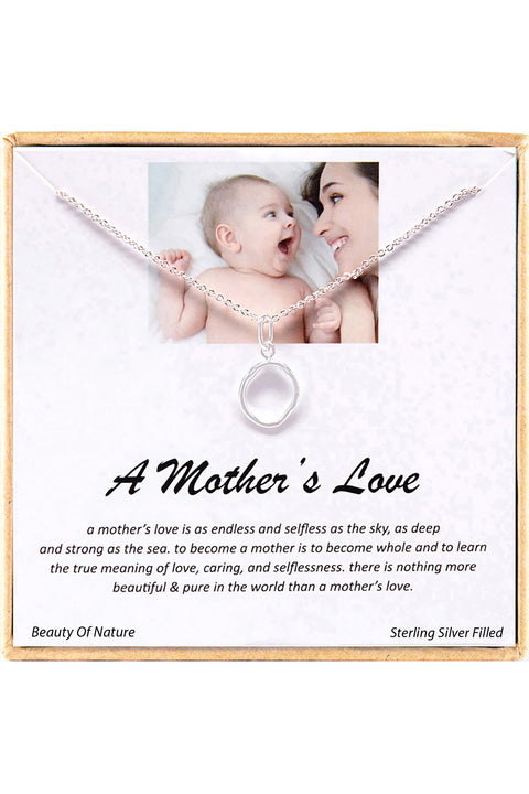 Sterling Silver Boxed 'A Mother's Love' Inspiration Necklace