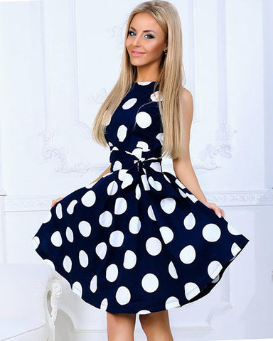Vintage Polka Dot Skater Dress