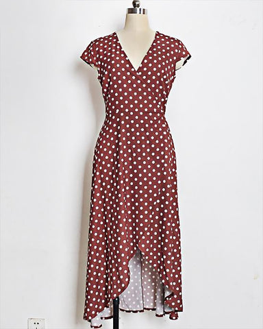 Adele Sleeveless Polka Dot Maxi Dress