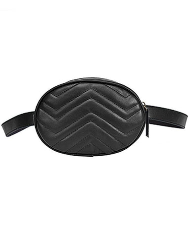 PU Leather Waist Fanny Pack Bag
