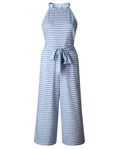 Dream Away Striped Jumpsuit With Pockets