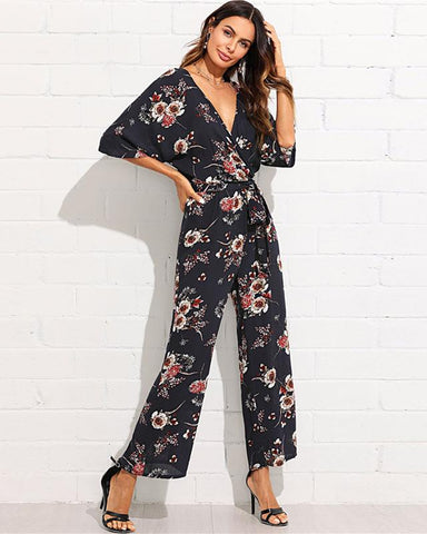 Wide Leg Floral Jumpsuit