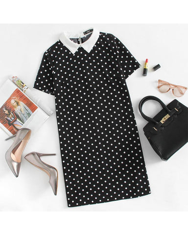 Dotty Vintage Polka Dot Dress