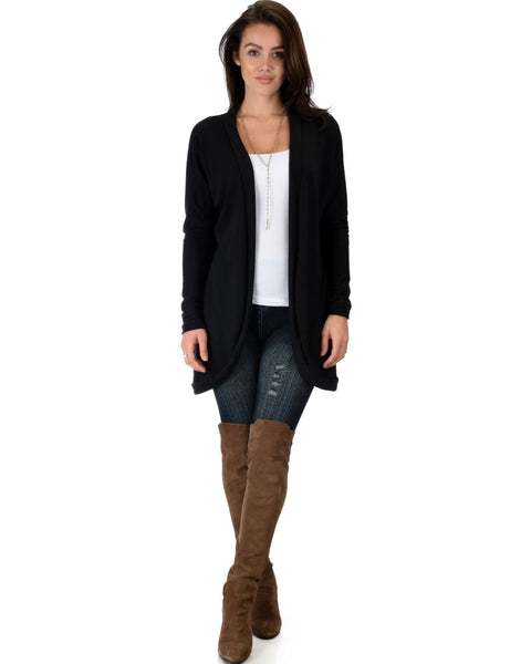 Lyss Loo City Sleek Long-Line Black Cardigan - Clothing Showroom