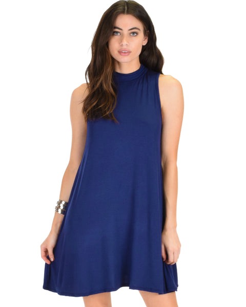 Lyss Loo Olivia Tank Navy Shift Dress - Clothing Showroom