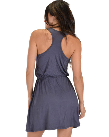 At Ease Waist Tie Tank Dress