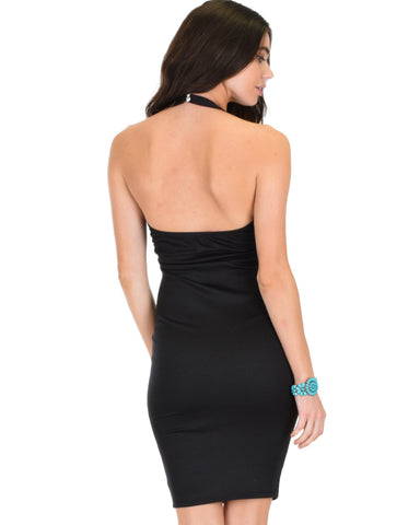 Lyss Loo Essential Spice Black Bodycon Dress - Clothing Showroom