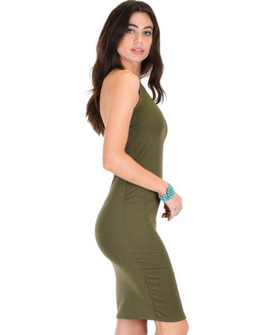 Lyss Loo Essential Spice Olive Bodycon Dress - Clothing Showroom