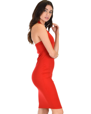 Lyss Loo Essential Spice Red Bodycon Dress - Clothing Showroom