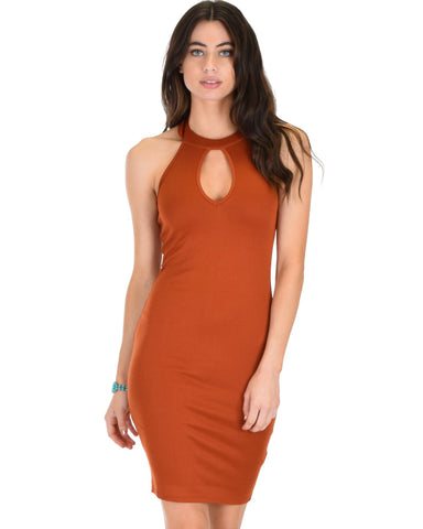 Lyss Loo Essential Spice Rust Bodycon Dress - Clothing Showroom