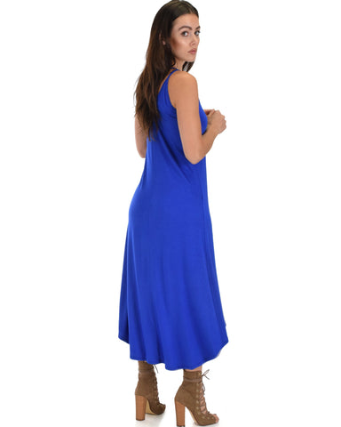 Lyss Loo All Wrapped Up Strappy Royal Wrap Dress - Clothing Showroom
