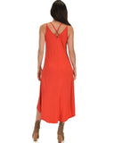 Lyss Loo All Wrapped Up Strappy Rust Wrap Dress - Clothing Showroom
