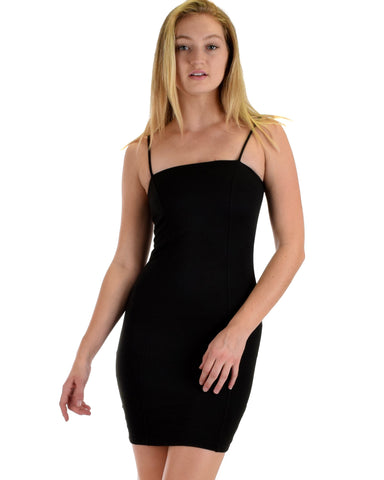 Lyss Loo Hug My Figure Bodycon Black Midi Dress - Clothing Showroom