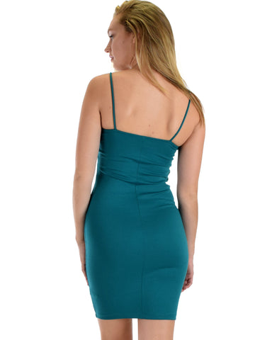 Lyss Loo Hug My Figure Bodycon Jade Midi Dress - Clothing Showroom