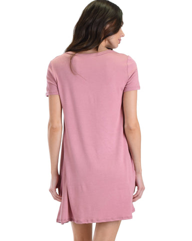 Lyss Loo Better Together Rose Shirt Tunic Dress With Pocket - Clothing Showroom