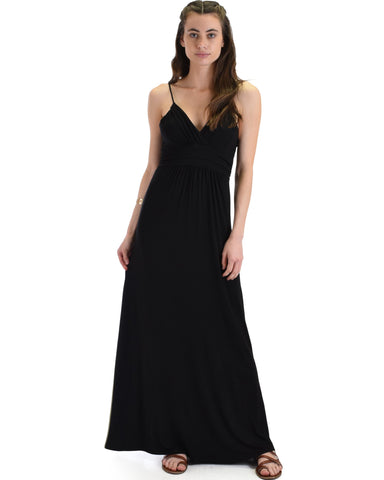 Lyss Loo Wanderlust Sweetheart Black Shift Maxi Dress - Clothing Showroom