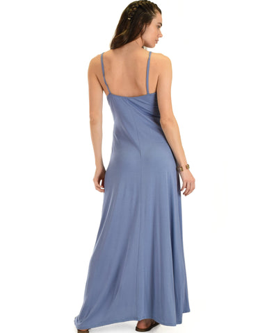 Lyss Loo Wanderlust Sweetheart Blue Shift Maxi Dress - Clothing Showroom